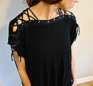 Laced up DIY shirt