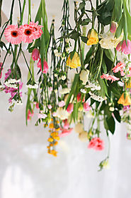 Hanging Flowers Decoration - Jest Cafe