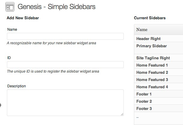 "WordPress › Genesis Simple Sidebars "" WordPress Plugins"