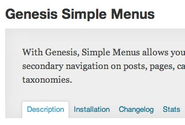 "WordPress › Genesis Simple Menus "" WordPress Plugins"