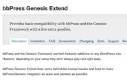 "WordPress › bbPress Genesis Extend "" WordPress Plugins"