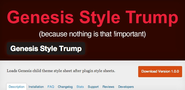 "WordPress › Genesis Style Trump "" WordPress Plugins"