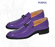 Classy Purple Mens Dress Shoes