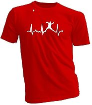 Baseball Heartbeat Pitcher, Catcher, Batter T-Shirt (various styles, colors and sizes) Youth or Adult - Baseball Gift...