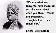 Words are secondary. Thoughts live; they travel far