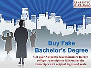 Buy fake bachelor's degree from realistic diplomas