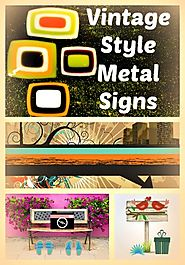 Vintage Style Metal Signs Home Decor - Long Ago Share