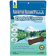 Natural Balance Dental Chews Dog Treats, L.I.T. Limited Ingredient Treats Sweet Potato & Chicken Meal Formula, Grain ...