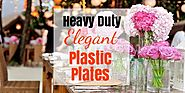 Heavy Duty Elegant Plastic Plates - Best Brands - Finderists