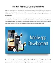 Groom Your Business with Best App Developers in India