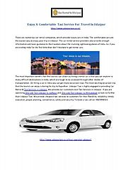 enjoy a comfortable taxi service for travel in udaipur