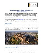 Make an entire visit in jodhpur with udaipur taxi.pdf