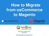 How to Move Your Online Store from osCommerce to Magento