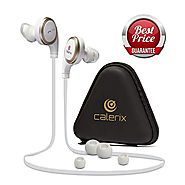 Bluetooth Headphones 4.1 Wireless Calerix, with Sweat Proof, Noise Cancelling Technology - Lightweight Sport In-Ear E...