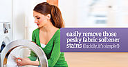 How to Remove Fabric Softener Stains