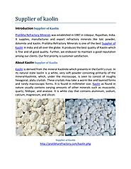 Supplier of Kaolin.pdf