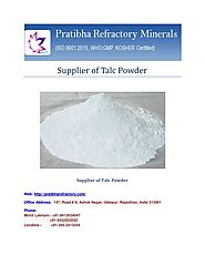 Supplier of Talc Powder-Pratibha