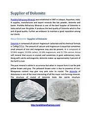 Supplier of dolomite