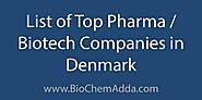 List of Top Pharma/Biotech Companies in Denmark - BioChem Adda