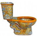 TALAVERA TOILETS - Uniquely Decorated Toilet Sets & Toilet Accessories in Vibrant Mexican Colors and Designs - Terra ...