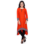 Red Designer Stitched Kurti Online for 599 Rs.@ FleAffair