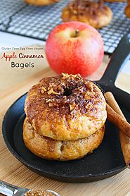 Gluten Free Cinnamon Apple Bagels (Vegan Egg Free) - Petite Allergy Treats