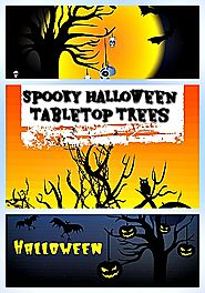 Halloween Tabletop Trees With Lights - Spooky Halloween Tree Decoration Ideas • Holiday Décor – Season Charm