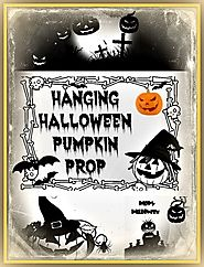 Hanging Halloween Pumpkin Man Prop • Holiday Décor – Season Charm