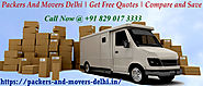 Packers And Movers In Delhi: Packers and Movers Delhi – Serving Moving Individuals