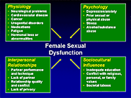 Female Sexual Dysfunction Symptoms