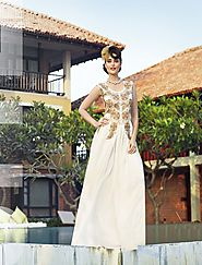 Latest Designer Heavy Embroidered And New Style White Gown