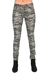 threadhitter The Carley Skinny Denim in Camo