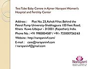 Test Tube Baby Center in Ajmer, Bhilwara and Udaipur