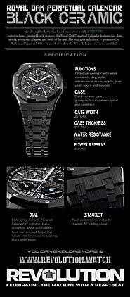 AP Royal Oak Perpetual Calendar Black Ceramic