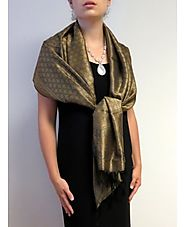 Silk Scarf Elegant Olive collection at YoursElegantly