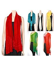 Silk Evening Scarves Shawls at YoursElegantly