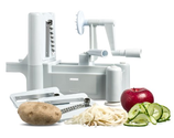 New and Essential Tri-Blade Spiral Vegetable Slicer