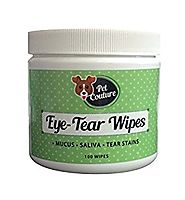 100% Natural Plant Based Pet Tear Stain Remover Wet 100 Cotton Wipes | Hypoallergenic | Multipurpose | Use to Remove ...