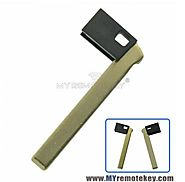 For BMW smart emergency key uncut blade