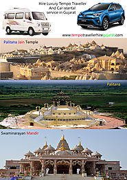 Hire Luxury 9 to 18 Seater Tempo Traveller For Ahmedabad-Gujarat Tour