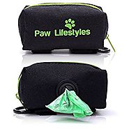 Paw Lifestyles Dog Poop Bag Holder Leash Attachment - Fits Any Dog Leash - Simple Attachment – Easily Access Dog Wast...