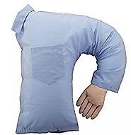 Doyime One-Arm Boyfriend Cushion Body Pillow Stuffed Toy Blue for Girls Gift
