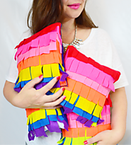 DIY Piñata Pillow | Cozy Reverie