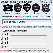 Vet Recommended Pet ID Tag Dog and Cat Personalized | Many Shapes and Colors to Choose From! | MADE IN USA, Strong An...