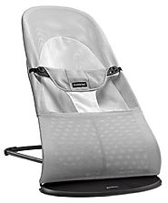 BABYBJORN Bouncer Balance Soft - Silver/White, Mesh