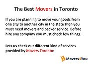 The Best Movers in Toronto |authorSTREAM