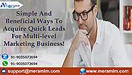 MLM Classified Ads- Perfect Way To Quickly Increasing Your MLM Business Leads