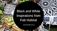 Black & White Inspirations from Fab Habitat 🔲🔳 – Premier Online Destination for Outdoor Rugs, Outdoor Mats, Picnic Ma...