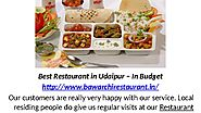 Best Restaurant in Udaipur In Budget