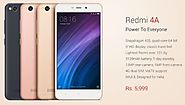 Xiaomi Redmi 4 Flipkart, Redmi 4A Amazon, 4A Snapdeal Price in India - Buy Online